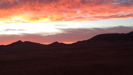 Couché de soleil sahara - stage clinic Maroc